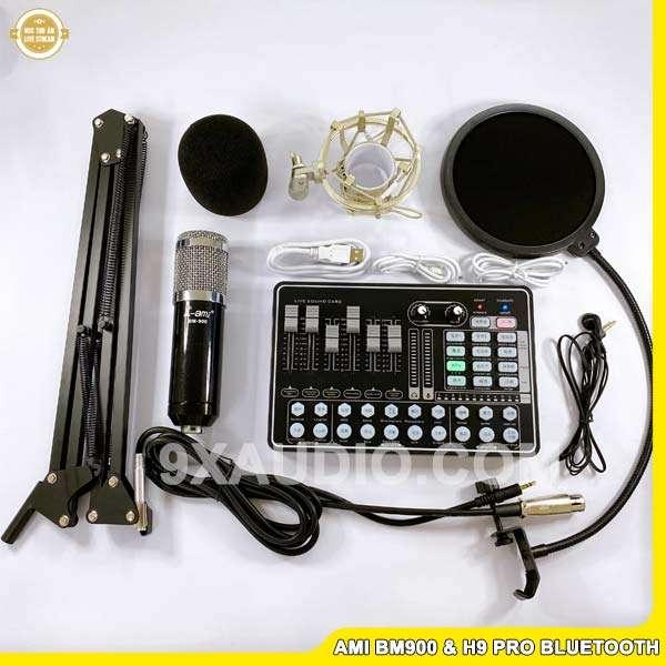 mic thu âm ami bm900 h9 pro
