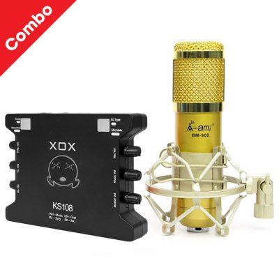 mic thu âm ami bm900 ks108