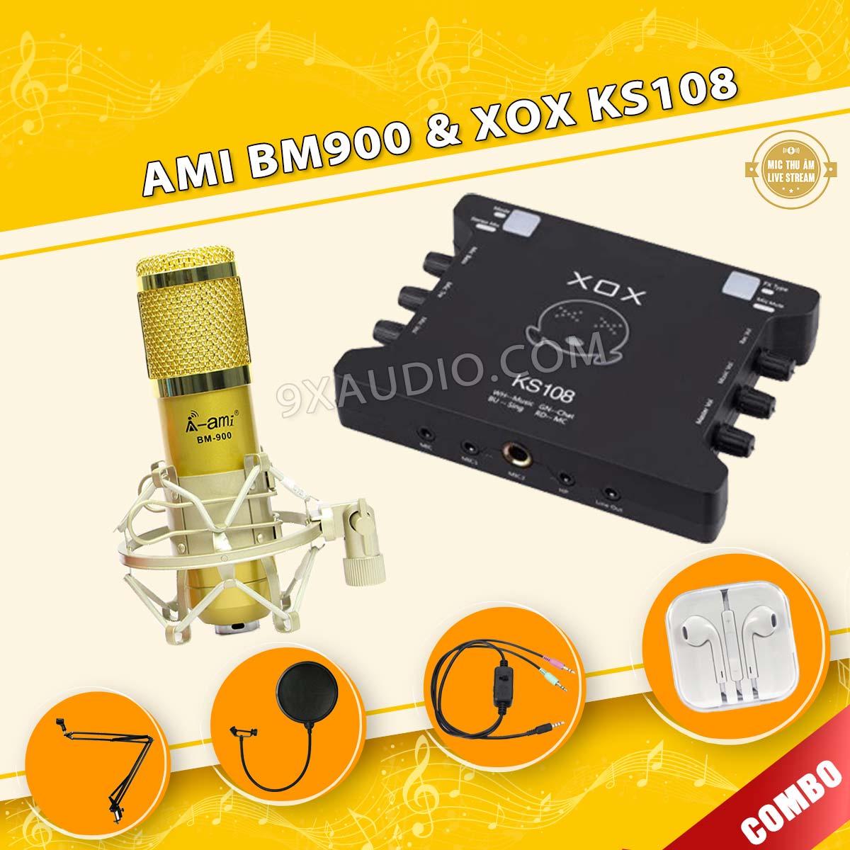 mic thu âm ami bm900 xox ks108 12