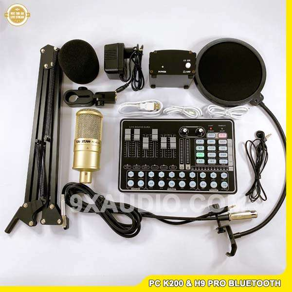 mic thu âm pc k200 h9 pro full