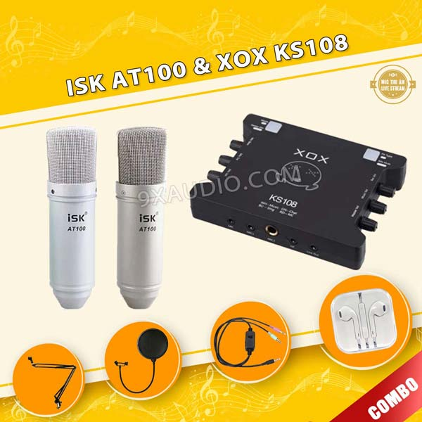 mic thu am isk at100 xox ks108 600
