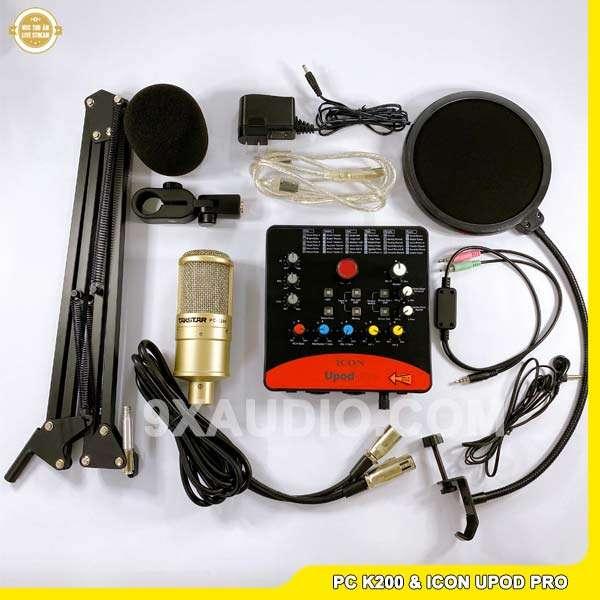 mic thu âm pc k200 icon upod pro