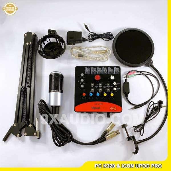 mic thu âm pc k320 icon upod pro