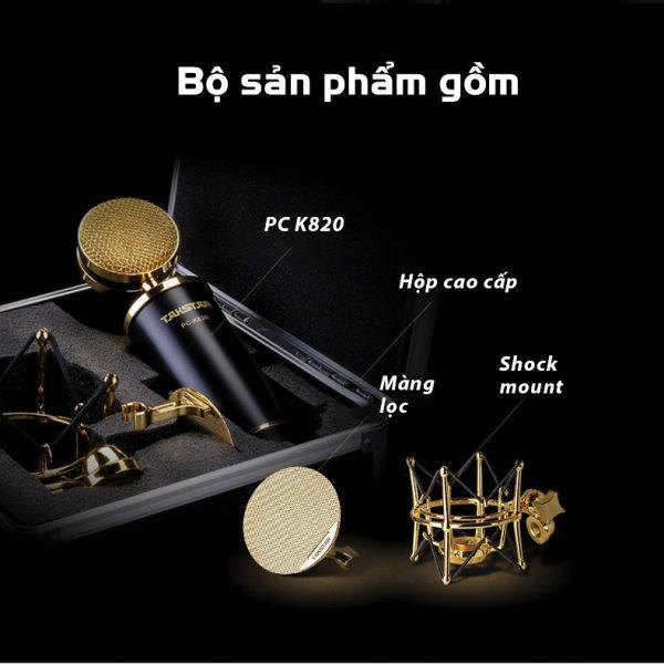 mic thu âm pc k820 cao cấp 8