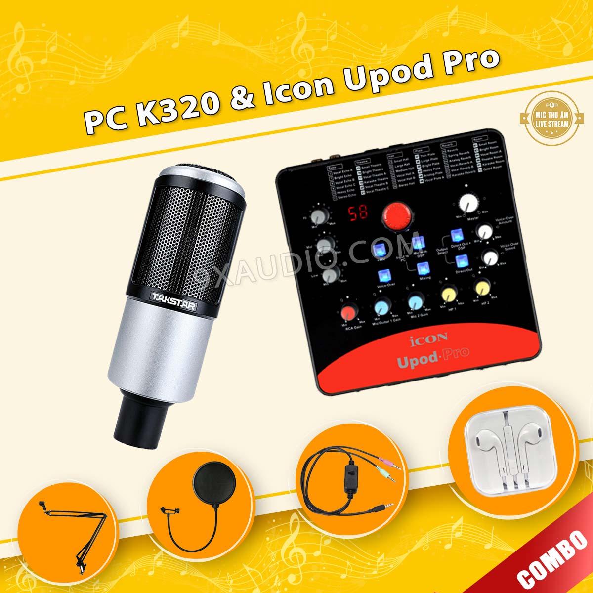 mic thu âm takstar pc k320 icon upod pro 106