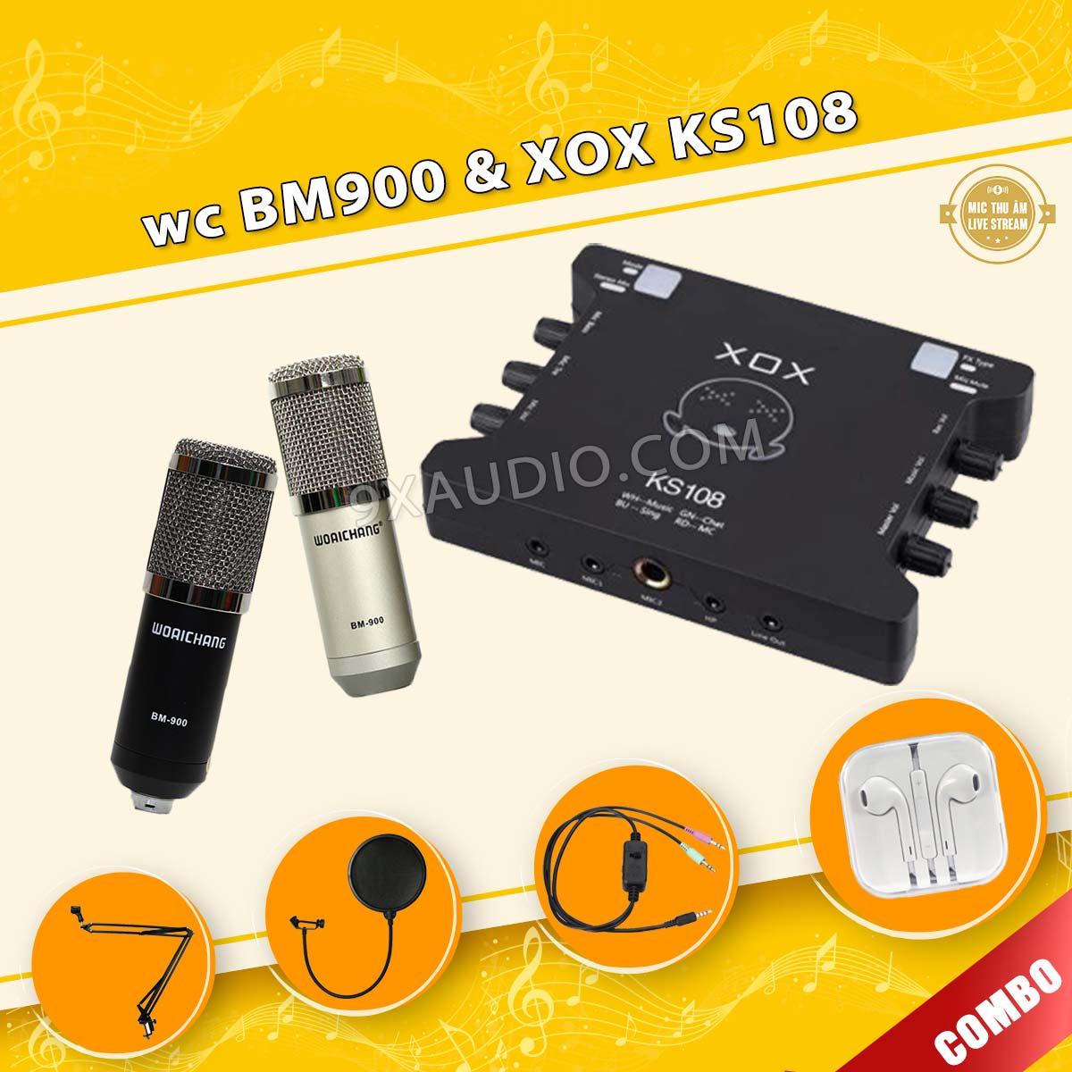 mic thu âm wc bm900 xox ks108 new