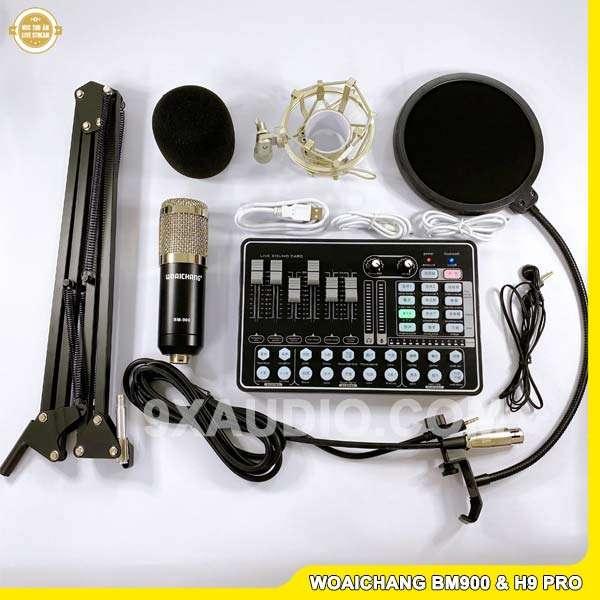 mic thu âm woaichang bm900 h9 black