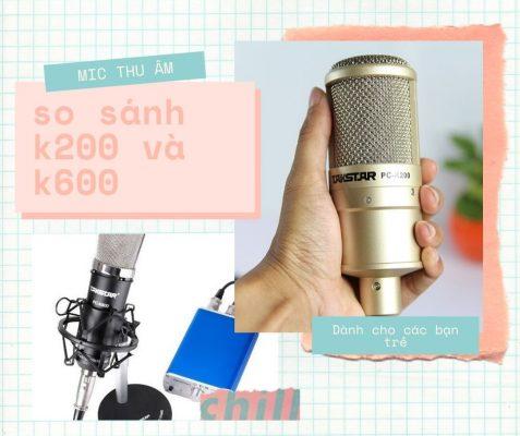 mic thu âm pc k200