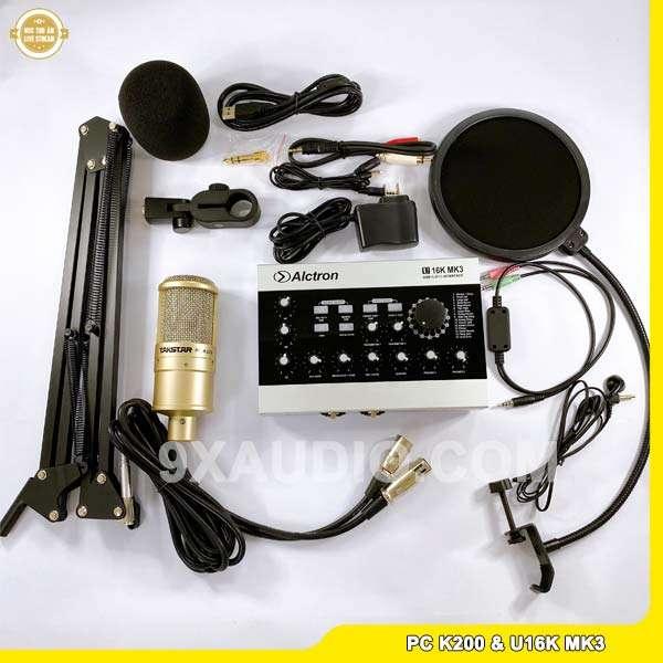 mic thu âm pc k200 u16k mk3 full