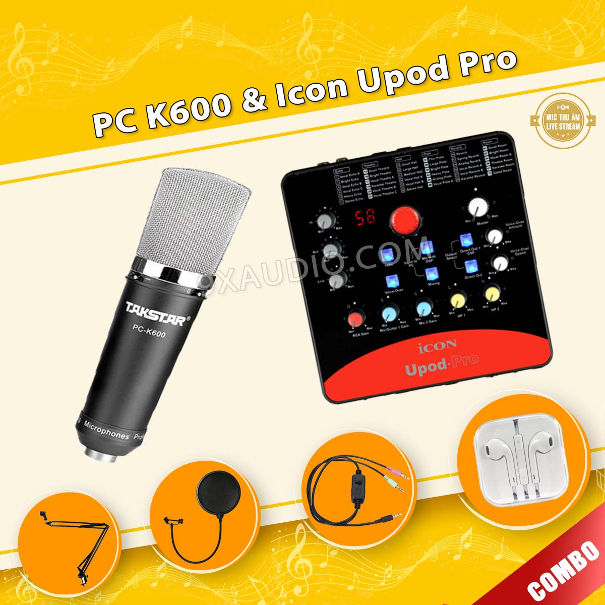 mic thu âm pc k600 icon upod pro full 106