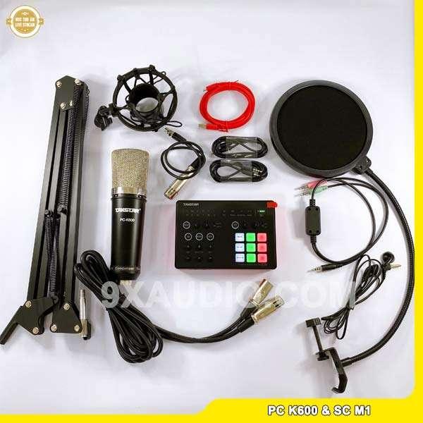 mic thu âm pc k600 sc m1 full