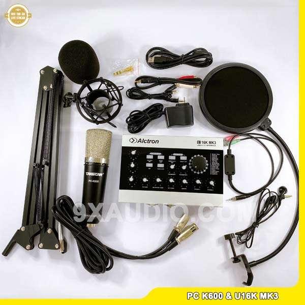 mic thu âm pc k600 u16k mk3 full