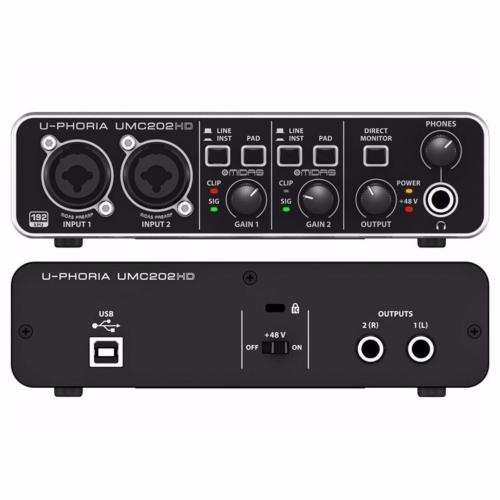 sound card thu âm umc202hd 1