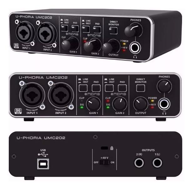 sound card thu âm umc202hd 3